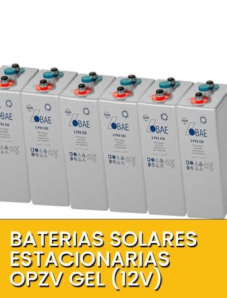 Baterías solares Estacionarias OPZV 12V GEL