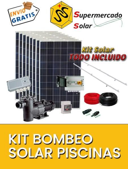 Kits bombeo solar piscinas