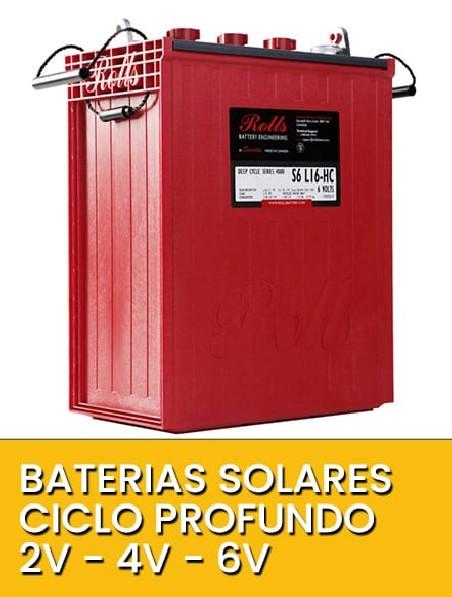 Baterías solares ciclo profundo 6V