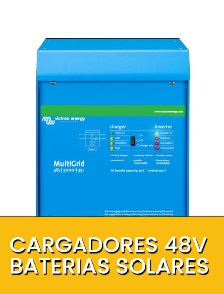 Cargadores baterías solares 48V