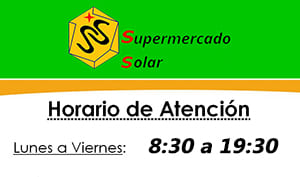Horarios tienda Supermercados Solar